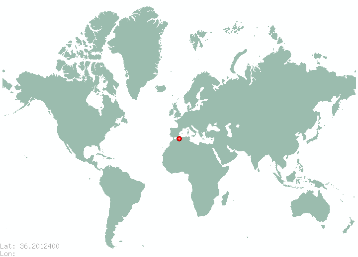 Aleppo in world map